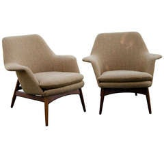 Pair of Dux Manta Ray Lounge Chairs