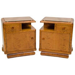 Pair of Nightstands, French Art Deco