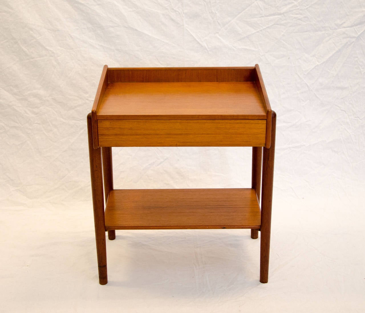 Danish Teak Night Stand Or End Table By Borge Mogensen At 1stdibs