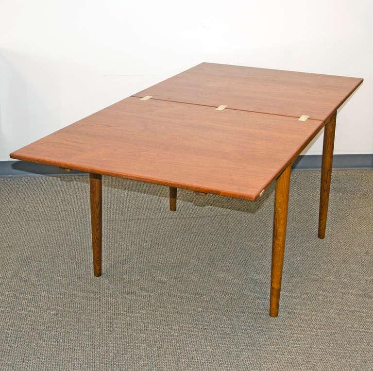 Mid Century Small Danish Teak Flip Top Dining Table by  : 434BorgeMogensenFliptopTableC18l from www.1stdibs.com size 768 x 764 jpeg 81kB