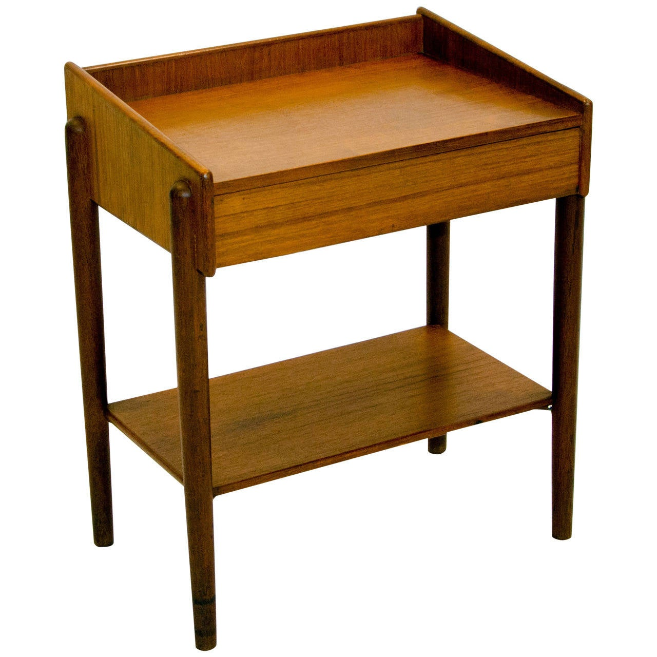 Superb Danish Teak Night Stand Or End Table By Børge Mogensen 1