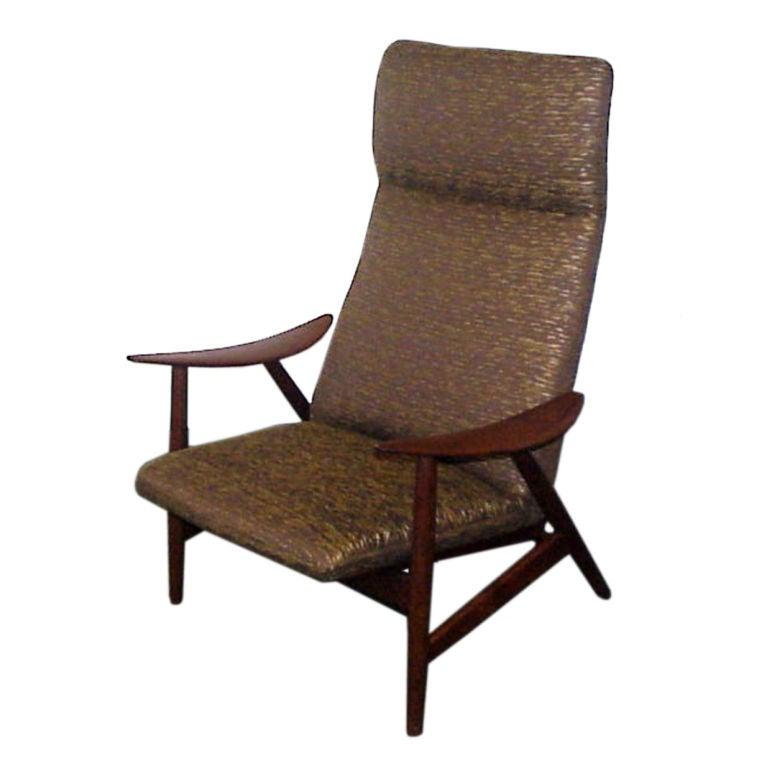 Illum Wikkelso Danish Teak lounge Chair at 1stdibs