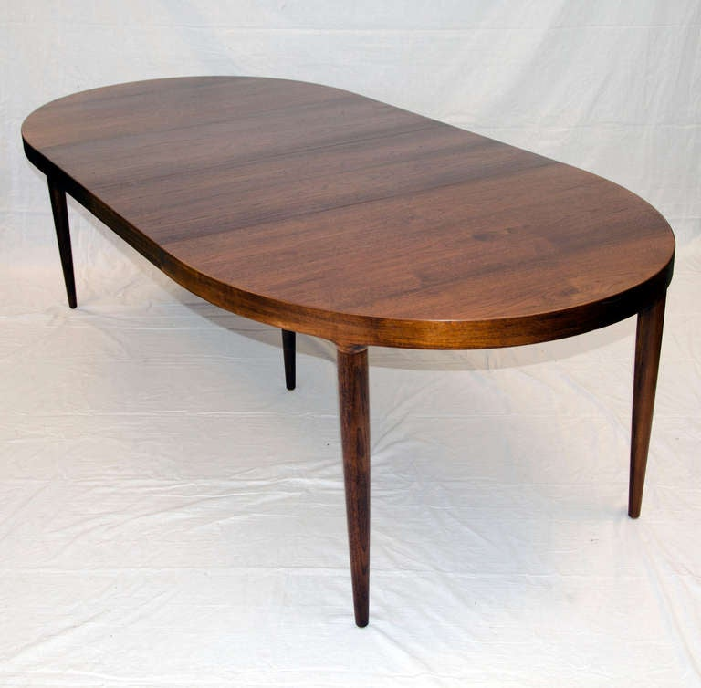 Mid Century Oval Walnut Dining Table MM Moreddi At 1stdibs
