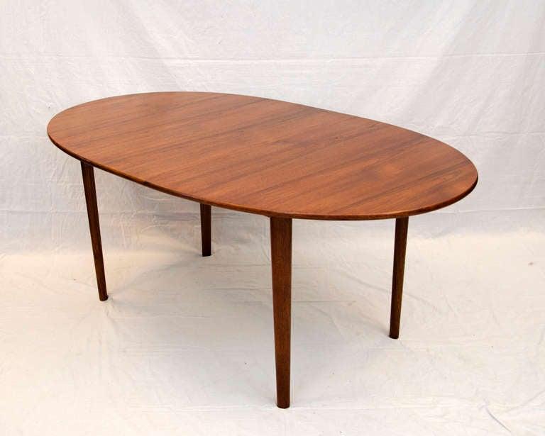 Oval Danish Teak Dining Table   Soborg Mobelfabrik 2