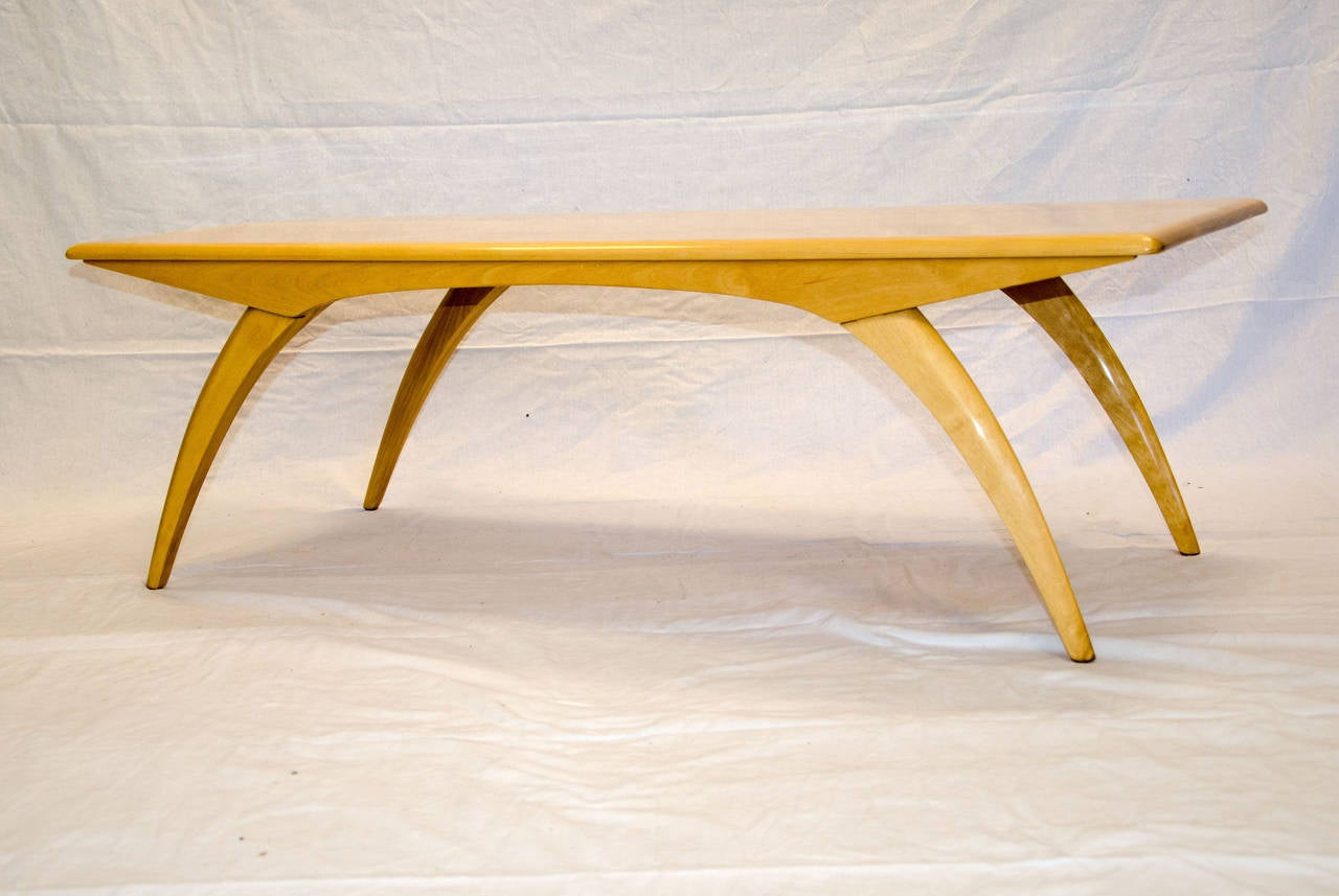 Mid Century Birch Coffee Table Model M795G HeywoodWakefield at 1stdibs