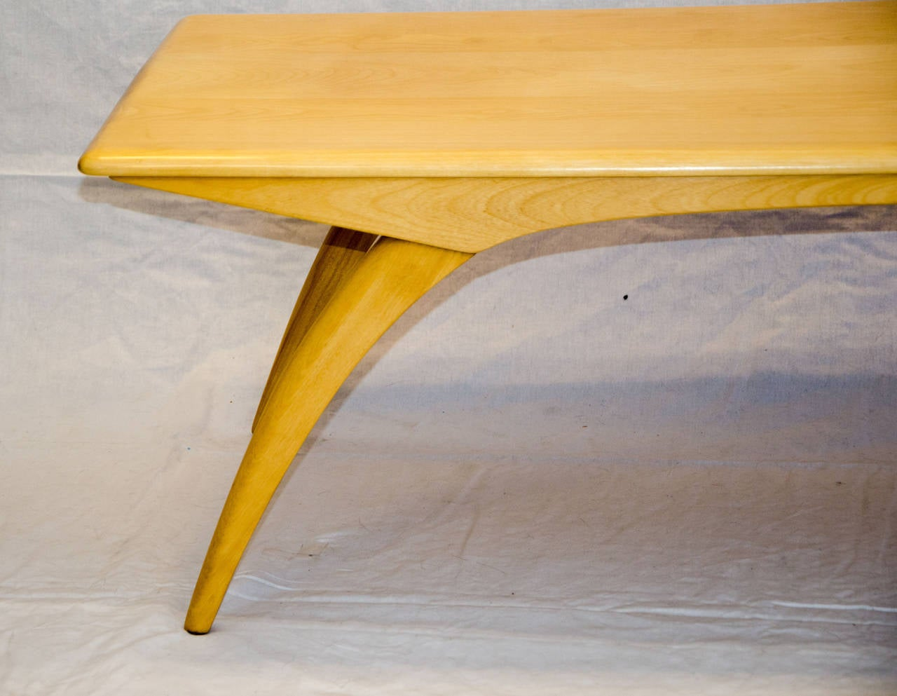 Mid Century Birch Coffee Table Model M795G, Heywood Wakefield 3