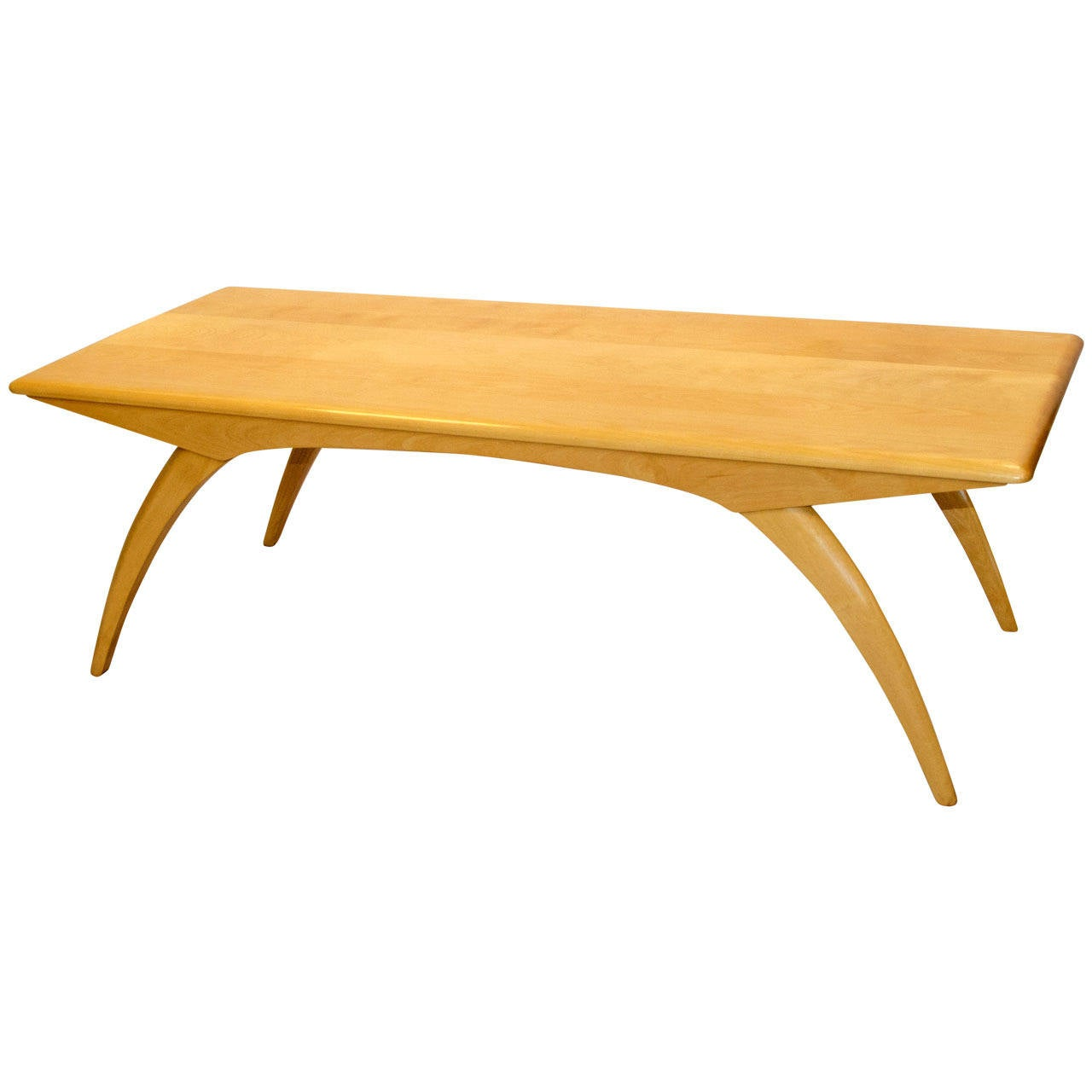 Mid century birch coffee table model m795g heywood wakefield at 1stdibs Mid century coffee tables