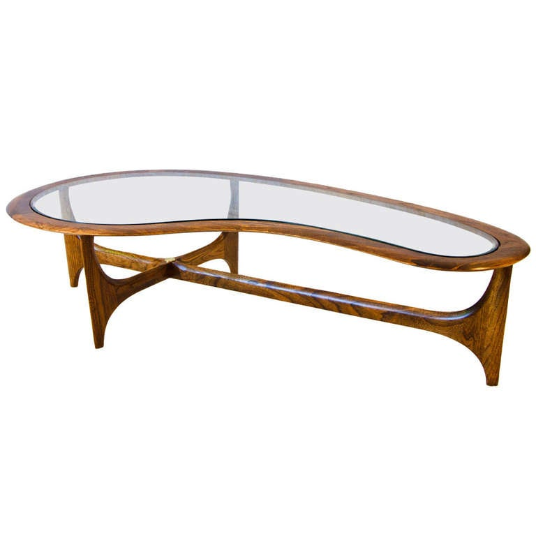 Cocktail Table In Organic Shape At 1stdibs