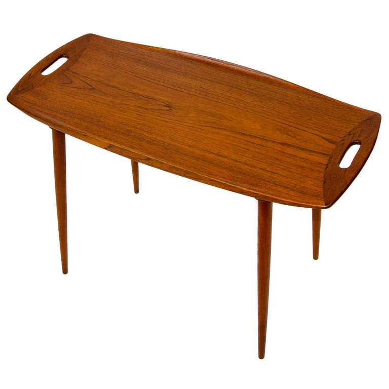 Danish teak small occasional table by jens quistgaard at for Small occasional tables