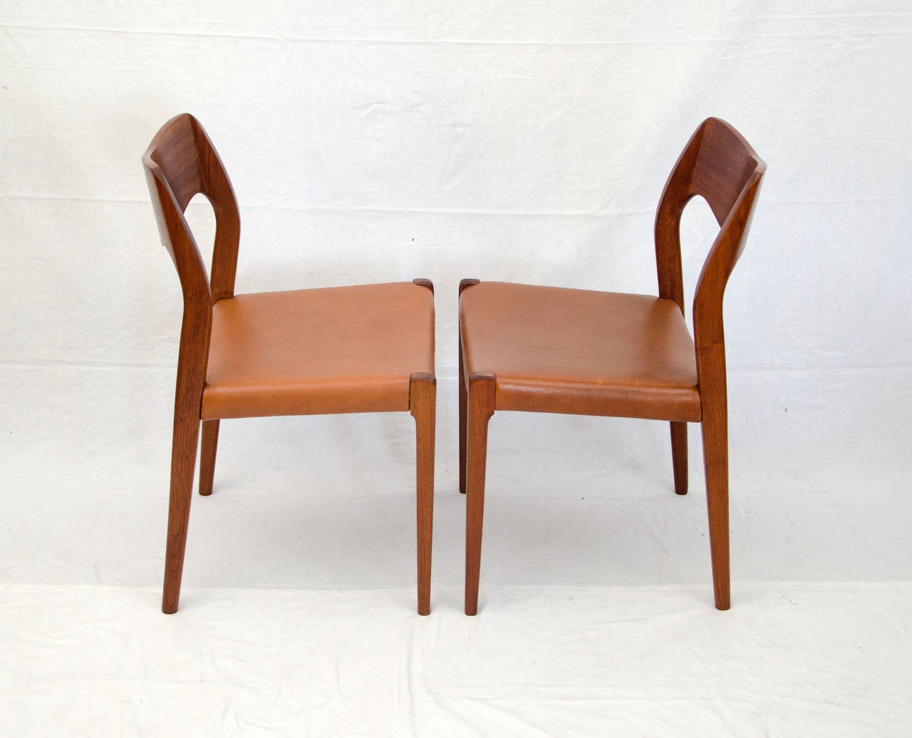 Set Of Four Danish Teak Dining Chairs Moller Model No 71 For Sale At 1stdibs