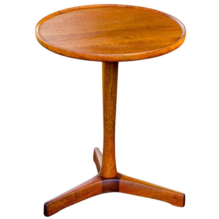 Mid Century Rose Wood Side Table Or Small Coffee Table For: Mid Century Small Teak End Table