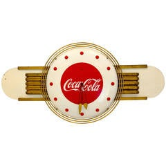 Coca-Cola Art Deco Style Wall Clock