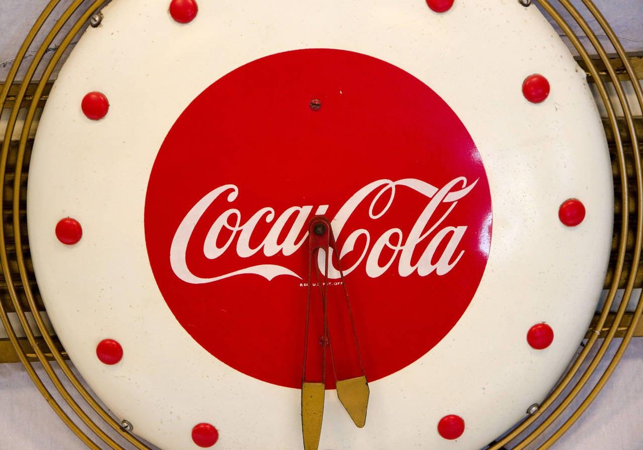 coca cola art deco style wall clock at 1stdibs. Black Bedroom Furniture Sets. Home Design Ideas