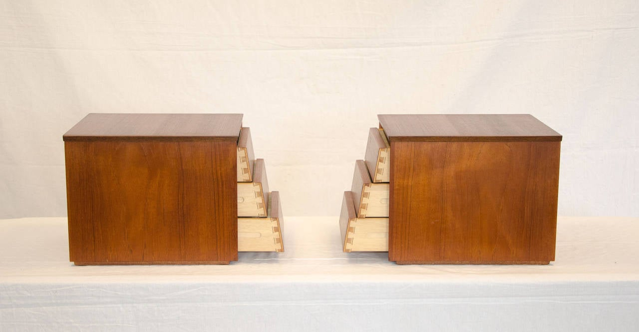 Small Danish Jewelry Cabinets or Desk Organizers at 1stdibs