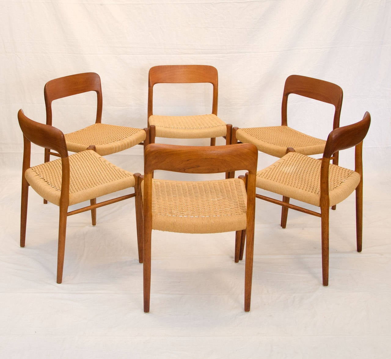 Four Danish Teak Dining Chairs Niels Moller 75 At 1stdibs