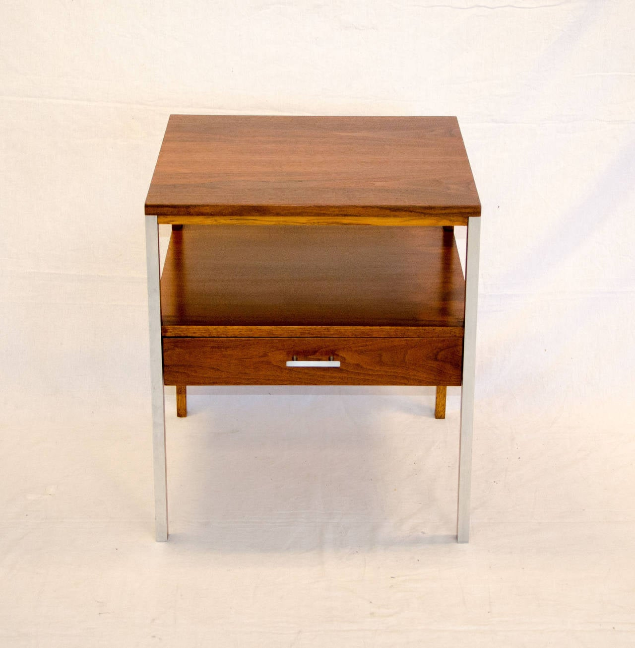 paul mccobb walnut night stand or end table linear by calvin at  - paul mccobb walnut night stand or end table linear by calvin