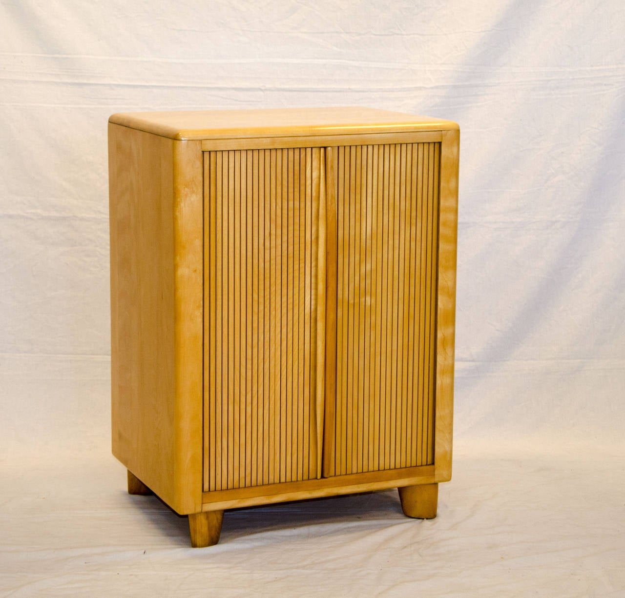 Tambour Storage Cabinet Heywood Wakefield at 1stdibs