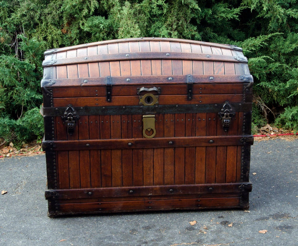 Dome Top Steamer Trunk 2