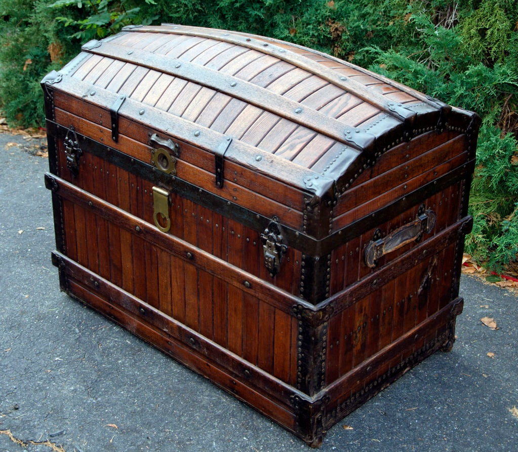 Dome Top Steamer Trunk 3