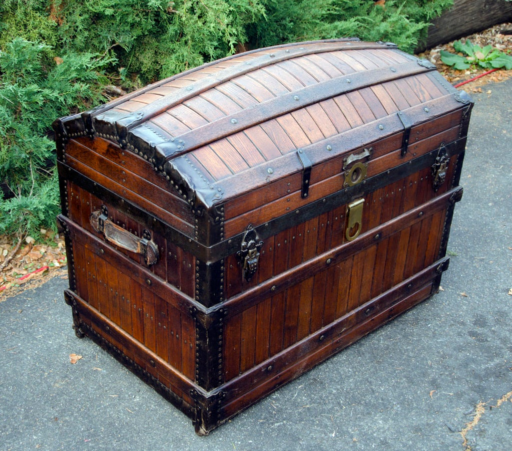Dome Top Steamer Trunk 4