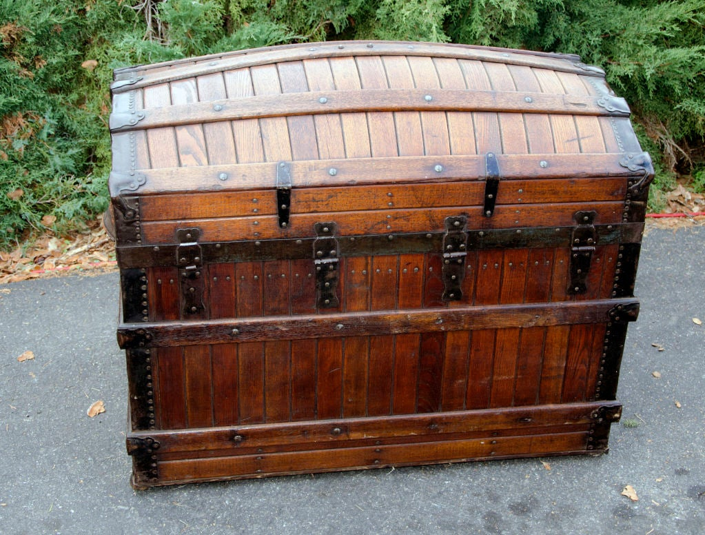 Dome Top Steamer Trunk 8