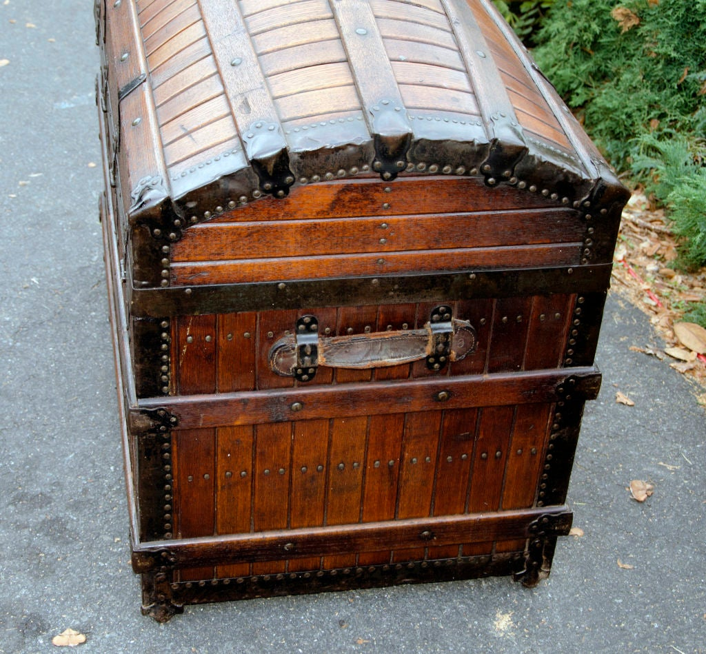 Dome Top Steamer Trunk 9