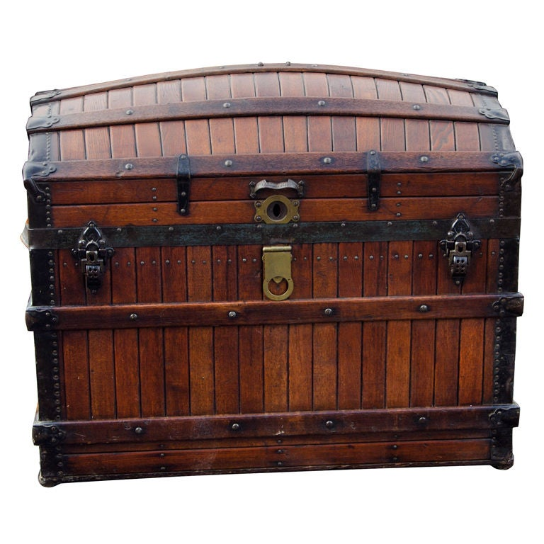 Dome Top Steamer Trunk 1