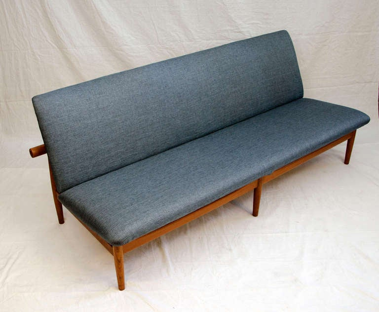 finn juhl teak japan sofa model 137 at 1stdibs. Black Bedroom Furniture Sets. Home Design Ideas
