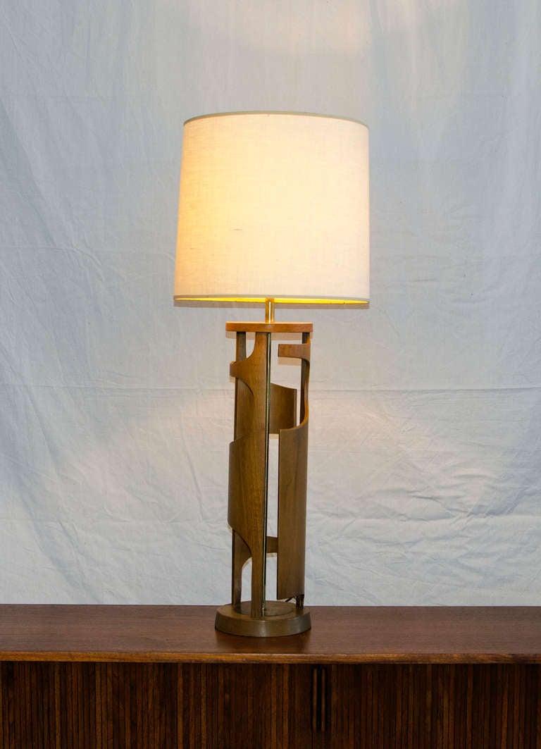 mid century modeline table lamp at 1stdibs. Black Bedroom Furniture Sets. Home Design Ideas