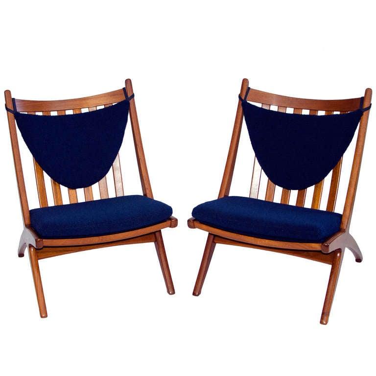 Danish Teak Lounge Chair Armless at 1stdibs