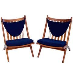 Danish Teak Lounge Chair- Armless