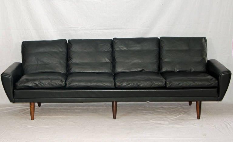 Mid Century Danish Leather Sofa George Thams At 1stdibs