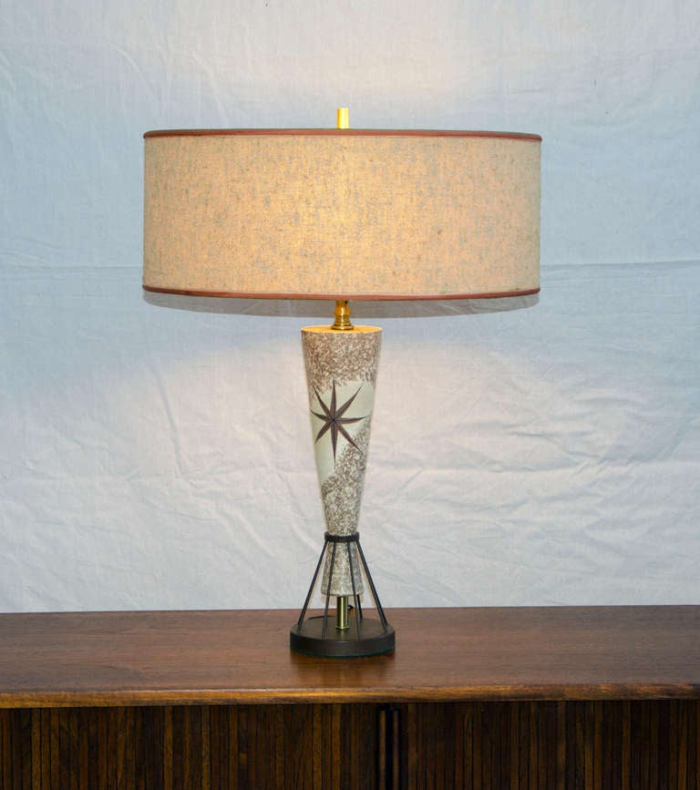 Mid Century Rembrandt Lamp: Vintage Mid Century Table Lamp