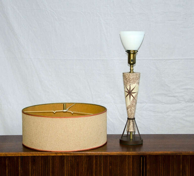Vintage Mid Century Table Lamp Marc Bellaire Style