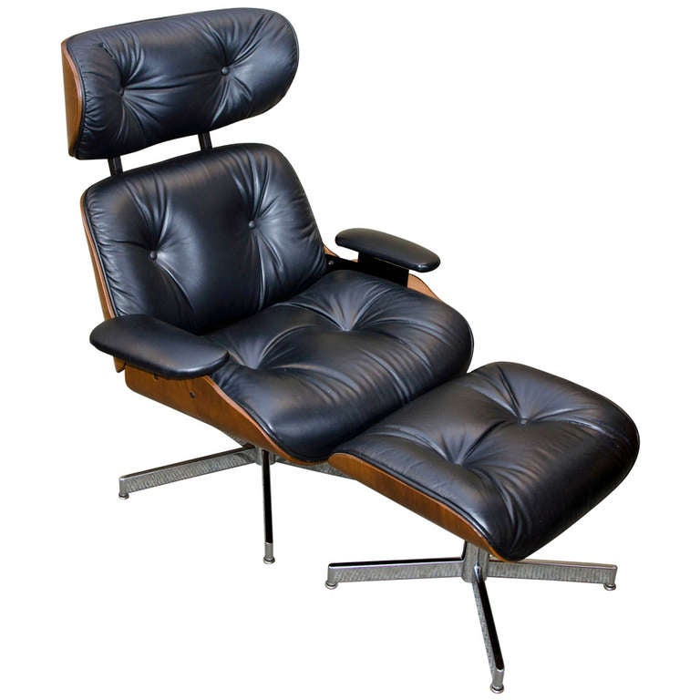 Eams Style Lounge Chair And Ottoman Plycraft At 1stdibs