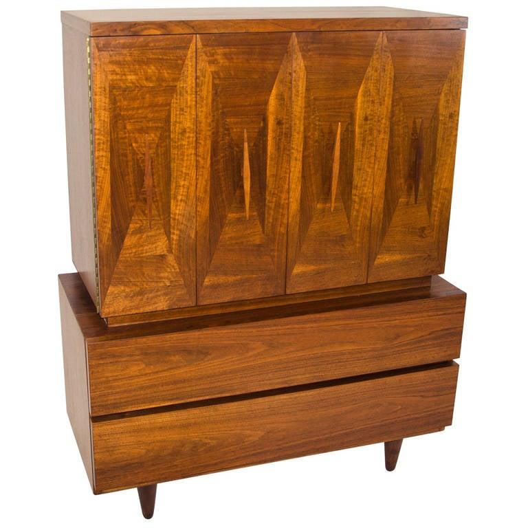 Mid century hi boy dresser by american of martinsville at for Mid century american furniture