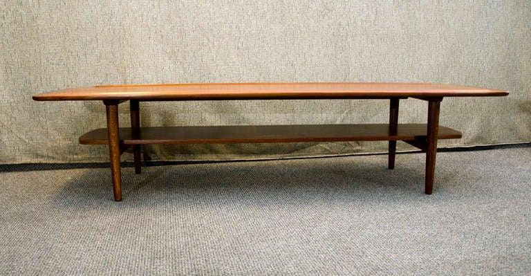 teak coffee table with shelf 2