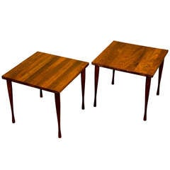Pair of Mid Century Small Teak Tables - Hans Andersen