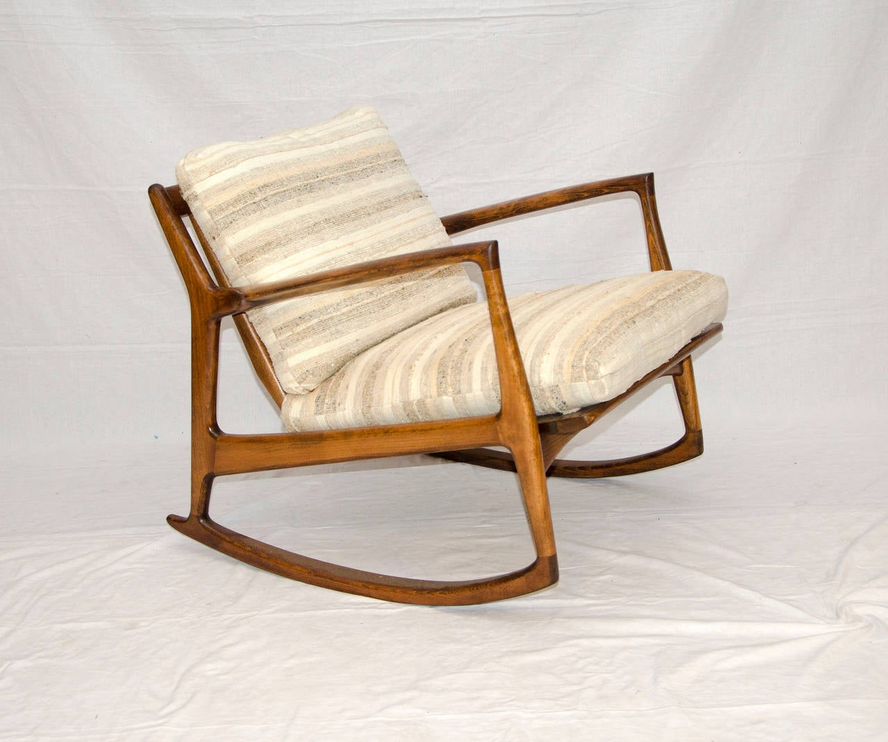 This Mid Century Danish Rocking Chair - Selig - Ib Kofod Larsen is no ...