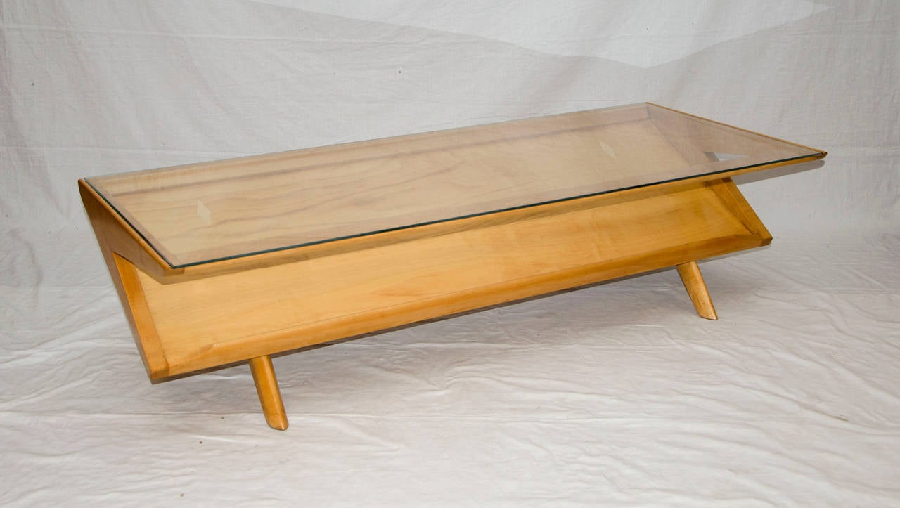 Mid century coffee or cocktail table by john keal for brown mid century coffee or cocktail table by john keal for brown saltman 2 geotapseo Choice Image