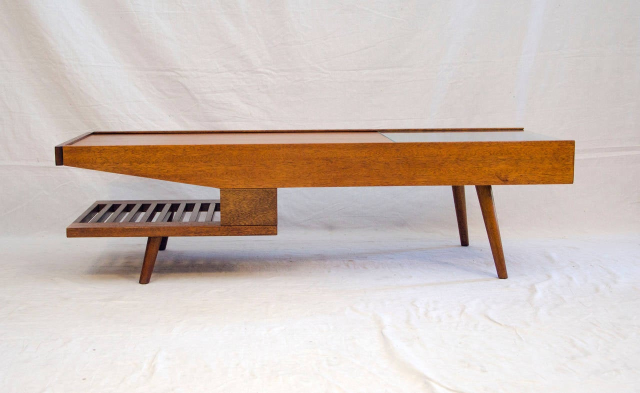 Mid Century Coffee Table John Keal For Brown Saltman At 1stdibs