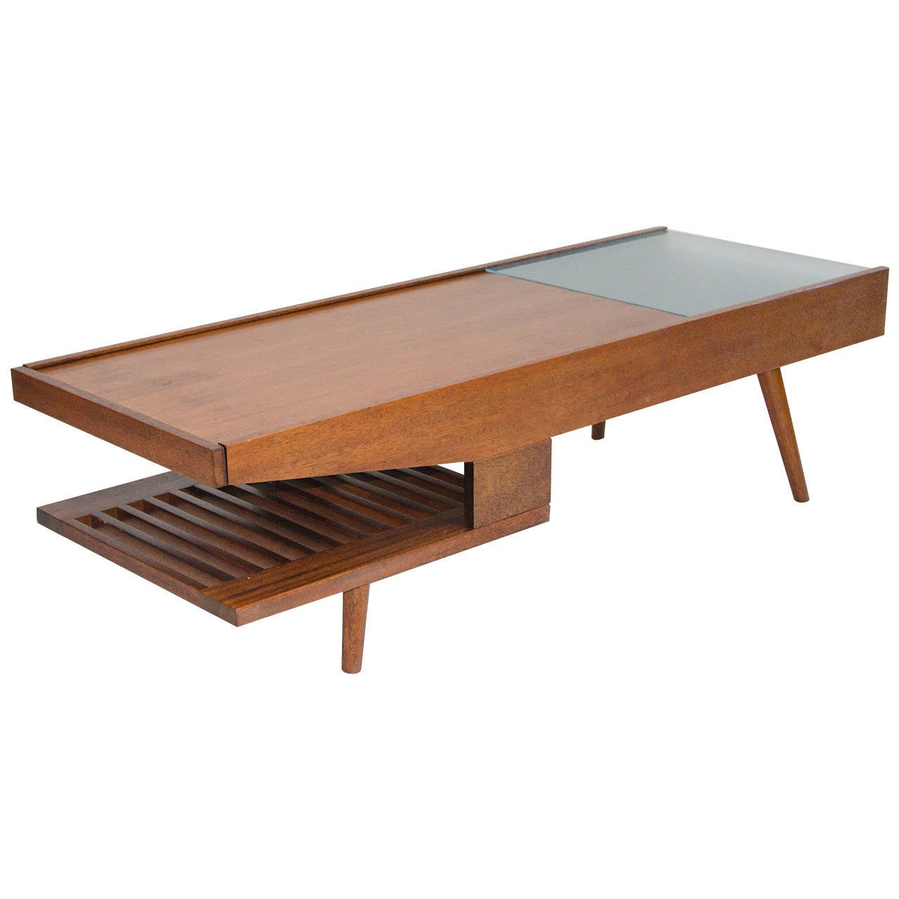 Mid Century Surfboard Coffee Table At 1stdibs: Mid-Century Coffee Table, John Keal For Brown Saltman At