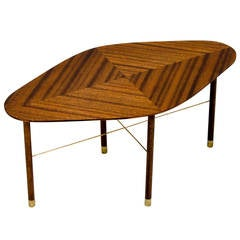 Very Small Midcentury Occasional Table by John Keal for Brown Saltman
