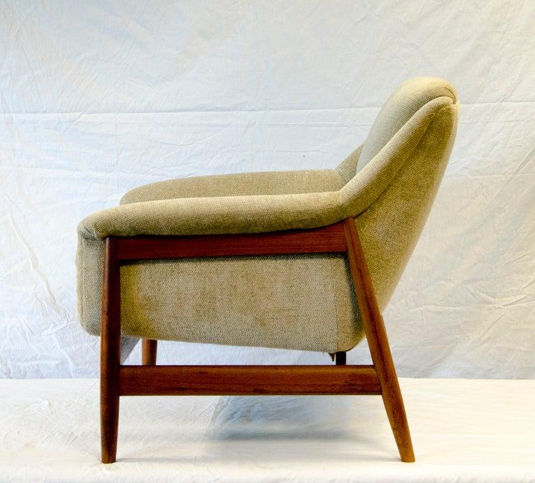 Danish Dux Style Lounge Chair Teak Frame at 1stdibs