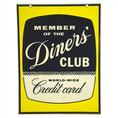 "Mid Century Sign ""Diner's Club"""