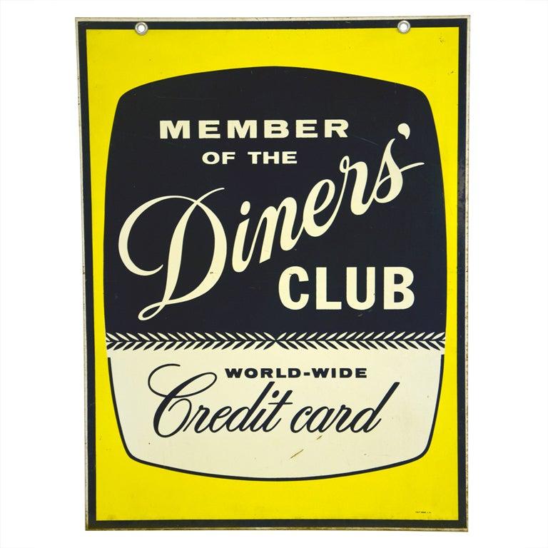 "Mid Century Sign ""Diner's Club"""