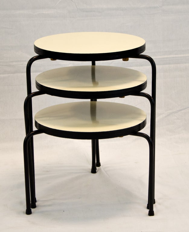 Luther conover stacking nesting side tables at 1stdibs for Small stackable coffee tables