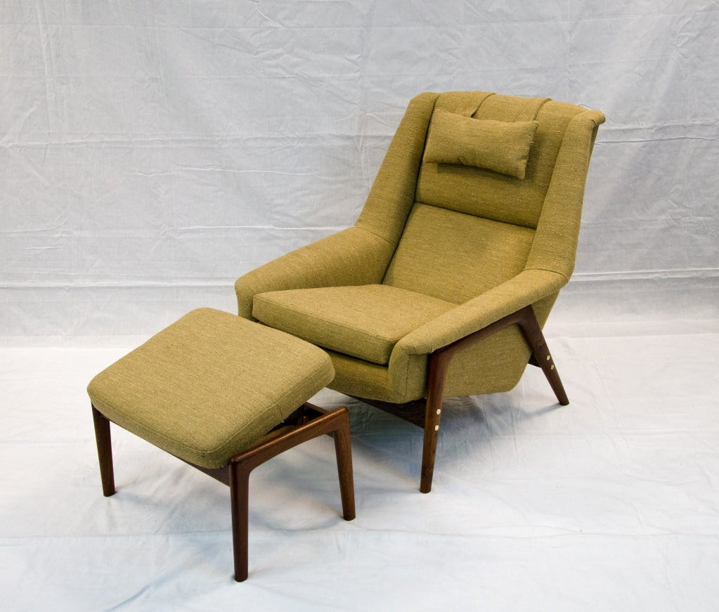 Folke Ohlsson Dux Lounge Chair With Ottoman At 1stdibs
