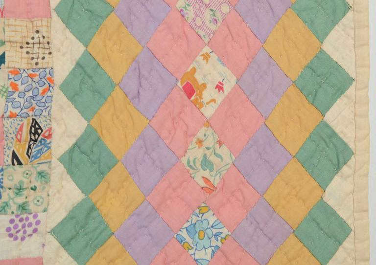 Cotton Irish Chain Quilt For Sale