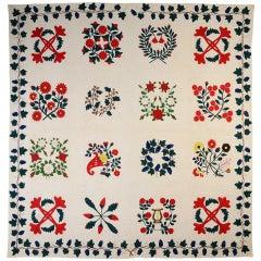 Floral Album Quilt